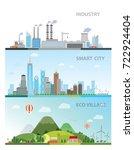 smart city  eco village  ... | Shutterstock .eps vector #722924404