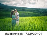 happy couple traveling at bali  ... | Shutterstock . vector #722930404