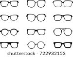 set of different glasses | Shutterstock .eps vector #722932153
