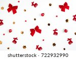 christmas background.... | Shutterstock . vector #722932990