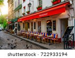 street with tables of cafe in... | Shutterstock . vector #722933194