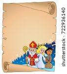 saint nicholas day thematic... | Shutterstock .eps vector #722936140