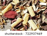 Small photo of garbage debris in forests and meadows expressing lack of respect for nature and the environment