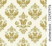 classic seamless vector golden... | Shutterstock .eps vector #722937976
