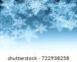 snowflake texture  decorative... | Shutterstock . vector #722938258