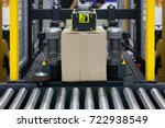 strapping machine for... | Shutterstock . vector #722938549