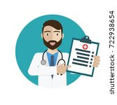 doctor showing diagnoses... | Shutterstock .eps vector #722938654