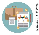 successful financial business... | Shutterstock .eps vector #722938738
