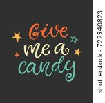 give me a candy. halloween... | Shutterstock .eps vector #722940823
