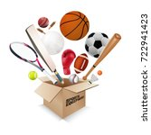 sports equipment collection out ... | Shutterstock .eps vector #722941423