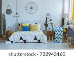 Folk Bedroom With Decorative...