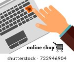 online shop. vector... | Shutterstock .eps vector #722946904