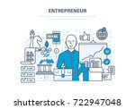 entrepreneur concept. start up... | Shutterstock . vector #722947048
