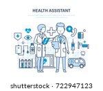 health assistant concept.... | Shutterstock . vector #722947123