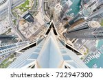 Small photo of DUBAI, UAE - JAN 15, 2017: Top view of Marina 101 in Dubai Marina area, 5th Interchange, view from Marina 101