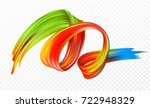 color brushstroke oil or... | Shutterstock .eps vector #722948329