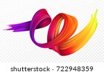 color brushstroke oil or... | Shutterstock .eps vector #722948359