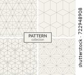 set of four seamless patterns.... | Shutterstock .eps vector #722948908