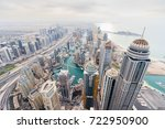 skyscrapers in dubai marina... | Shutterstock . vector #722950900