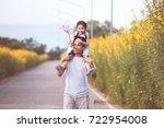 cute asian little girl playing... | Shutterstock . vector #722954008
