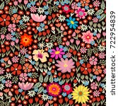 colorful floral carpet.... | Shutterstock .eps vector #722954839