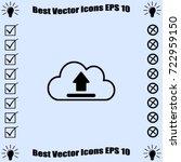 cloud upload icon  vector... | Shutterstock .eps vector #722959150