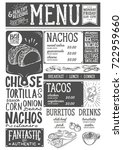 mexican menu for restaurant and ... | Shutterstock .eps vector #722959660