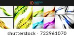 set of wave templates. vector...   Shutterstock .eps vector #722961070
