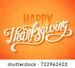 happy thanksgiving day poster... | Shutterstock .eps vector #722962423