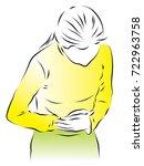 the girl bent down. a girl... | Shutterstock .eps vector #722963758