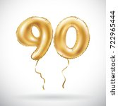 raster copy golden number 90... | Shutterstock . vector #722965444