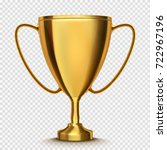 winner cup isolated. golden... | Shutterstock .eps vector #722967196
