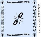broken chain  icon  unlink... | Shutterstock .eps vector #722967490