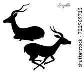 Decorative Gazelle Graphic Han...