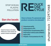 stop ocean plastic pollution...   Shutterstock .eps vector #722971468