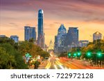 a view of the skyline austin ... | Shutterstock . vector #722972128