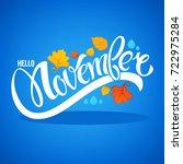 hello november  bright fall... | Shutterstock .eps vector #722975284