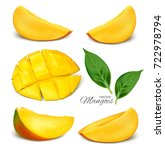 collection of vector mangoes.... | Shutterstock .eps vector #722978794