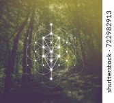 tree of life sacred geometry... | Shutterstock .eps vector #722982913