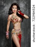 gorgeous arabian woman... | Shutterstock . vector #722984524