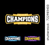 champion sports league logo... | Shutterstock .eps vector #722985403