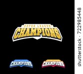 champion sports league logo... | Shutterstock .eps vector #722985448