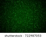 vector binary code green... | Shutterstock .eps vector #722987053