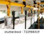 handles for standing passenger... | Shutterstock . vector #722988319