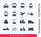 simple public transport icons   ... | Shutterstock .eps vector #722989276