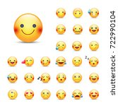 smileys vector icon set.... | Shutterstock .eps vector #722990104