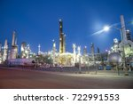 oil refinery  oil factory ... | Shutterstock . vector #722991553
