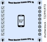smartphone icon  ecommerce... | Shutterstock .eps vector #722991973