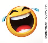 happy cry emoji isolated on... | Shutterstock . vector #722992744