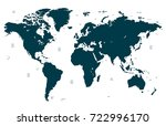 vector world map | Shutterstock .eps vector #722996170